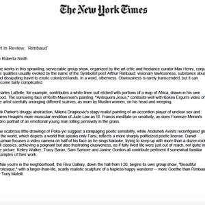 Andisheh Avini, New York Times, 2004