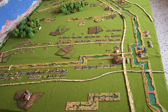 Photo: Il campo di battaglia. Miniature Baccus, materiale scenico TimeCast, McGijo e autocostruito