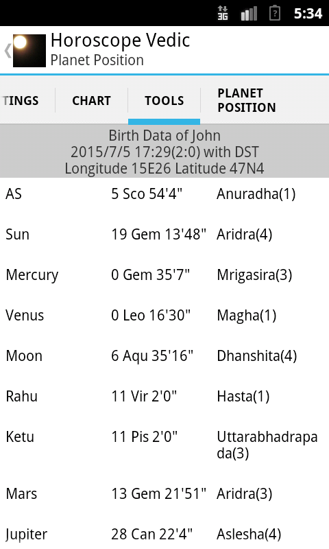 Horoscope Vedic- screenshot