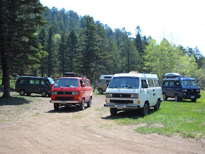 Photo: Our rendezvous camp site. Here we're heading out the next morning