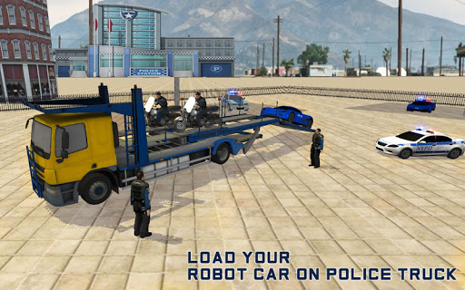 Robot Car Transporter - US Police Robot Transform
