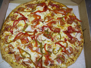 Photo: Pepperoni`s, sweet peppers, and onions--Yum!!