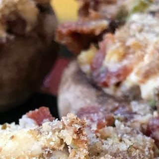 Bacon Stuffed Mushrooms.