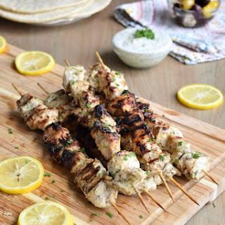 Grilled Greek Chicken Kabobs with Tzatziki Recipe