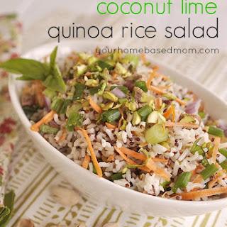 Coconut Lime Quinoa Rice Salad Recipe