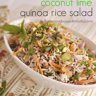 Coconut Lime Quinoa Rice Salad.