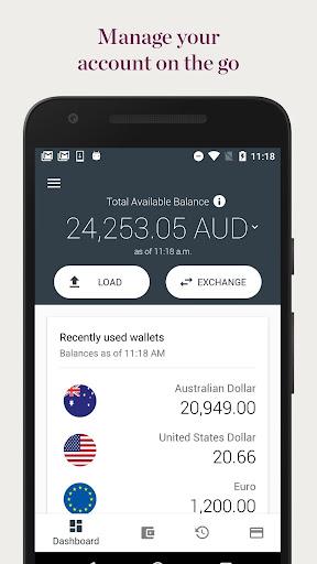 Westpac Global Currency Card  screenshots 1