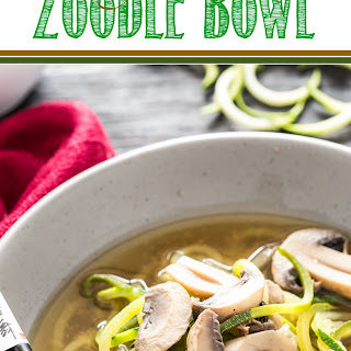 Ginger Miso Zoodle Bowl.