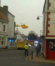 Photo: Showing the ambucopter on take off after attending the town centre