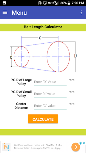 Belt Length Calculator Online