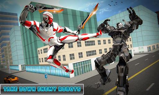 Dual Sword Hero Robot Transforming 3D screenshots 4