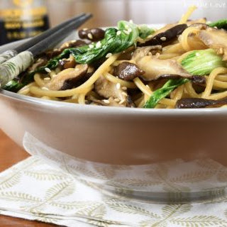 Bok Choy, Shiitake, and Garlic Noodles.