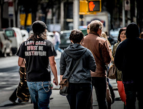 Photo: Everyone's a critic. :-) Taken near Rockefeller Center in New York City.  I never did get to see what was on the front of the shirt.  #BreakfastClub curated by +Gemma Costa