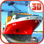 Heavy Crane Cargo Ship Sim 3D Icon