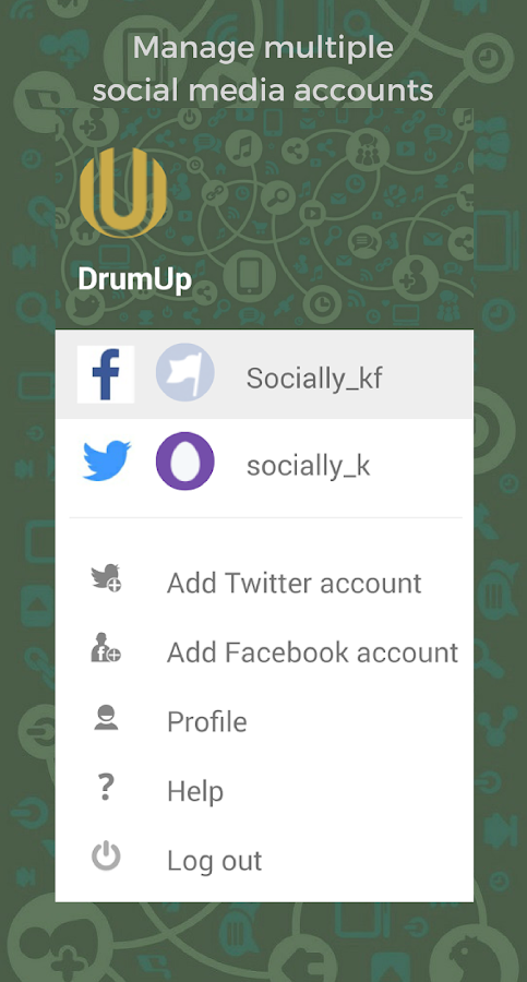 DrumUp - Social Media Manager- screenshot