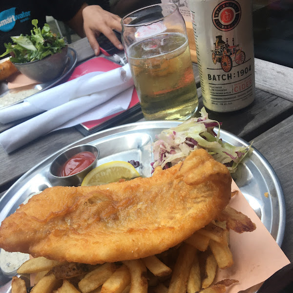 Gf Fish & Chips with Cider. 😋