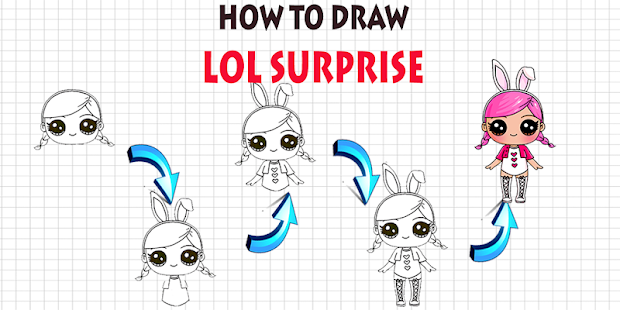 How To Draw LOL surprise step by step Dolls Screenshot