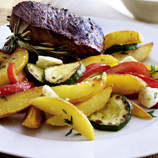 Rosemary Beef Tenderloins with Feta Potatoes