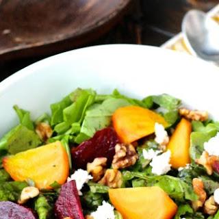 Roasted Beet and Arugula Salad with Orange Beet Vinaigrette