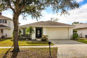 Orlando villa, very close to Disney theme parks, gated community, south-facing pool, lake view