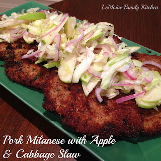Pork Milanese with Apple Cabbage Slaw