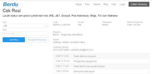 Positive & Negative Reviews: Berdu Cek Resi - by PT. BERDUNIA ...