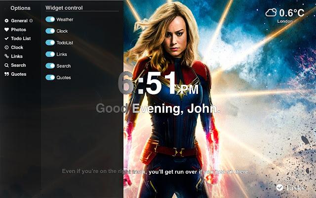 Captain Marvel Hd Wallpaper 2019 Tab Theme