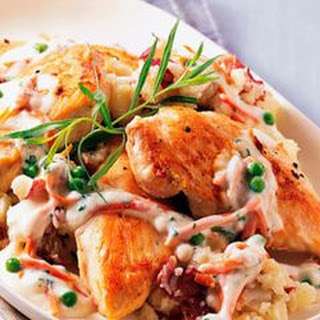 Chicken with Smashed Potatoes, Potpie Style