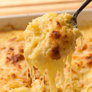 Three-Cheese Spaghetti Squash Gratin