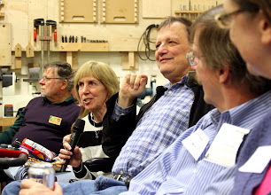 Photo: Guests Judy and Harry Schatz, visiting from the West Coast, introduced themselves.  They found our Meeting online.