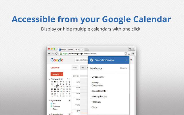 google calendar groups chrome web store