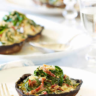 Grilled Stuffed Portobello Mushrooms.
