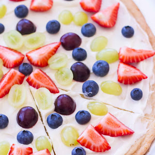 Lemon Sugar Cookie Fruit Pizza.