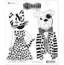 Dylusions Cling Stamps 8.5X7 - Winston & Lulu