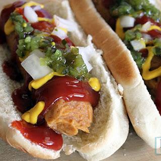 Vegan Hot Dogs // Paprika Seitan Sausages