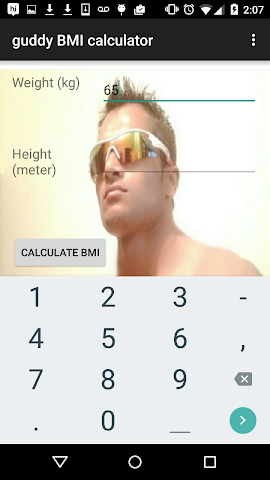 android guddy BMI calculator Screenshot 1