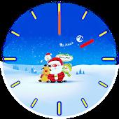Santa Analog Clock