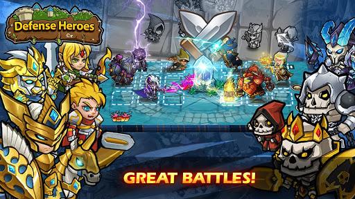 Defense Heroes: Defender War Tower Defense Offline apklade screenshots 1