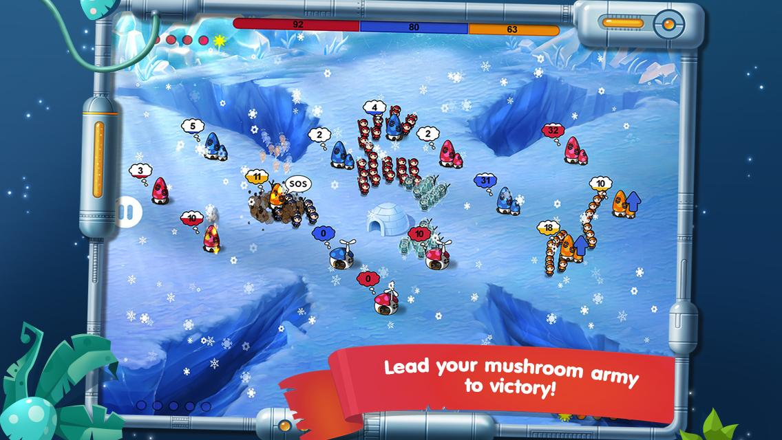 Mushroom Wars: Space! for VK- screenshot