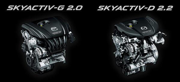 เครื่องยนต์ของ CX-5 มีมาให้เลือกทั้งเบนซินและดีเซล