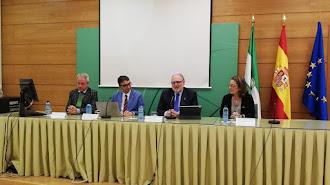 Presentación de los últimos datos del Plan de Alta Frecuentación. A la izquierda, el almeriense Diego Vargas.