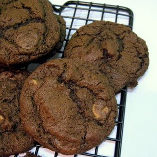 Chewy Brownie Peanut Butter Chip Cookies