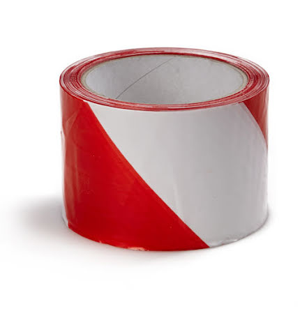 Avspärrningsband röd/vit 50mm x 500m
