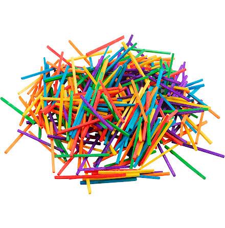 Färgade stickor 5cm ca 4300/fp