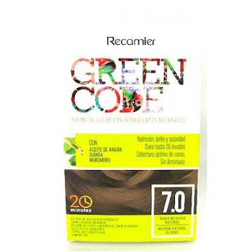 KIT TINTE RECAMIER GREEN   CODE INGREDIENTES NAT. RUBIO MEDIANO#7.0X1UND