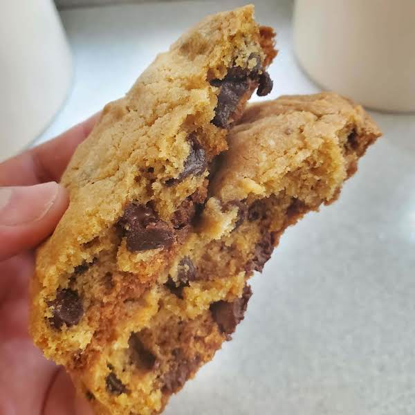 This Recipe Will Become Your Go To For Chocolate Chips Cookies! The Cookies Are Thick And Chewy And Turn Out Perfect Every Time. These Large, Bakery Style Cookies Are Sure To Become Your Favorite!