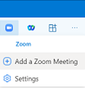 Add Zoom meeting to Outlook
