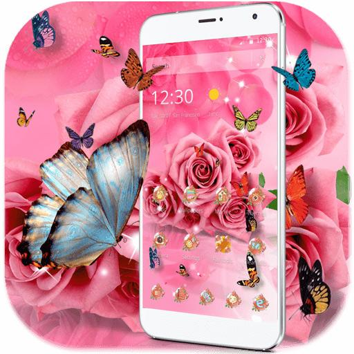 Butterfly Pink Rose Wallpaper Apps On Google Play