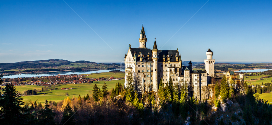 Neuschwanstein Castle by Gary Beresford - Buildings & Architecture Public & Historical ( ludwig, bavaria, germany, castle, disney )