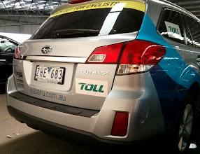 Photo: Amy's Share the Road Tour #sponsordecals #subaru #amygillettfoundation #sharetheroadtour #tasmania